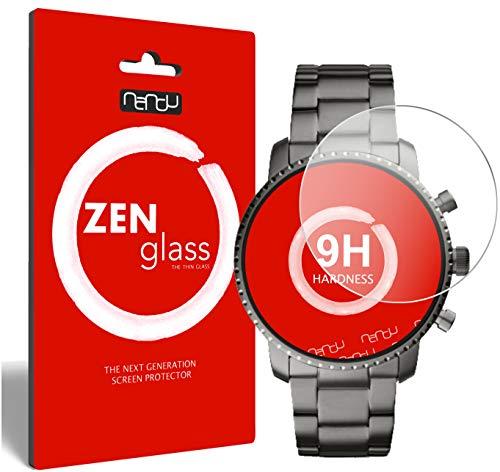 ZenGlass (2 Stück Flexible Glas-Folie für Fossil Q Explorist Panzerfolie I Bildschirm-Schutzfolie 9H