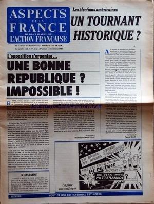 ASPECTS DE LA FRANCE [No 1872] du 08/11/...