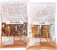 Nuru Anjeer (Dry Figs) & Munakka (Raisin with Seeds) Combo (250 g Each)