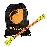 Juggle Dream, neonfarbiges Flowerstick-Set, Orange, mit Firetoys-Tasche