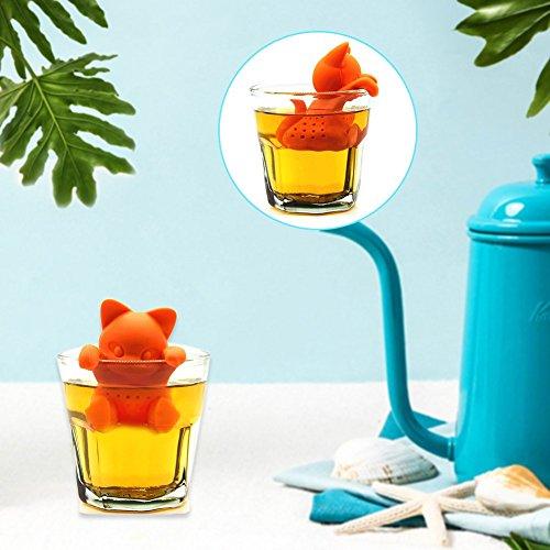 HUVE Nette Silikon Katze Tee Infuser Tee Filter Diffusor Wiederverwendbare Teesieb Spice Lose Tea Leaf Kräuter Werkzeug Teekanne Teebeutel