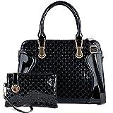 Bolsos de Mujer, Coofit Bolso Bandolera Bolso Tote Bag Bolsos Shopper Mode Bolsos de Mano Set Bolsos Mujer Bolsos Cuero (Negro)