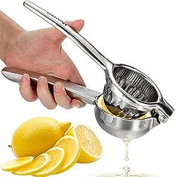 Homdox Edelstahl Zitronenpresse Größe Zitruspresse Orangenpresse, Silber