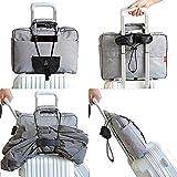 AMAYGA Cinghia per valigia,Cinghie da Viaggio Bagagli,4 pezzi di Cintura regolabile con,Accessori indispensabili per viaggiare,Viaggiare in sicurezza