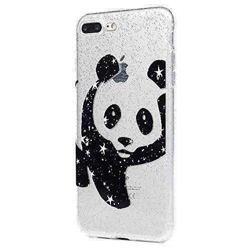 3x Cover iPhone 7 Plus iPhone 8 Plus Custodia Glitter Brillanti Morbida Silicone TPU Flessibile Gomma - MAXFE.CO Case Ultra Sottile Cassa Protettiva per iPhone 7 Plus / iPhone 8 Plus - Modello 3 Modello 2