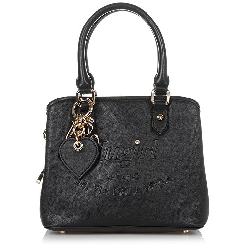 BORSA BLUGIRL SMALL DOUBLE HANDLE BLACK 006