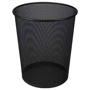 Clic-And-Get Papierkorb 19 l, schwarzer Metalldraht