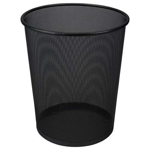 Clic-And-Get Papierkorb 19 l, schwarzer Metalldraht (Korb Büro)