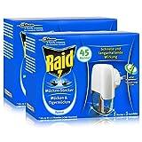 2x Raid Mücken Stecker und Nachfüller für ca. 45 Nächte Mückenfrei