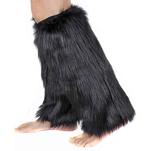 1par mujeres Soft Cozy Fuzzy botas pelo sintético