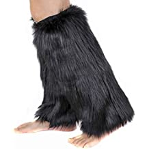 1par mujeres Soft Cozy Fuzzy botas de pelo sintético calentadores puños cubierta