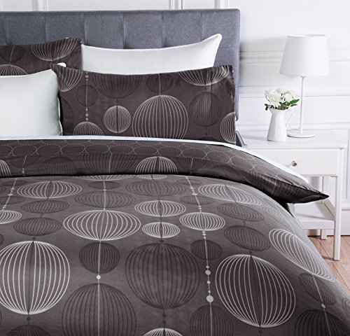 AmazonBasics - Juego de ropa de cama con funda de edredón, de microfibra, 260 x 220 cm,   Gris industrial...