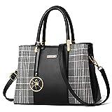 Maysurban Bolso de mano y bolso para mujer, de diseñador, con asa superior, de...