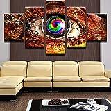 INFANDW Wandkunst Leinwand Steampunk Auge Leinwanddrucke 5 Panels Gemälde Artwork Muster 150x80cm Poster Drucke Auf Leinwand Modern Für Kinderzimmer Home Decor (Kein Rahmen)