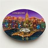 3D, Hongkong China Kühlschrankmagnet, Souvenir Geschenk berühmten Tourist Fleck Home Dekoration Küche Dekoration