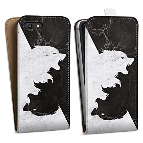 Apple iPhone 6s Hülle Silikon Case Schutz Cover Game of Thrones Wolf GOT Downflip Tasche weiß