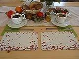 MahlzeitBrettchen Frühstücksbrettchen Frühstücksbrett Brotbretter Motiv Roter Pfeffer Kunststoff – Resopal 23,5 x 14,5 cm, 2er Set, Made in Germany