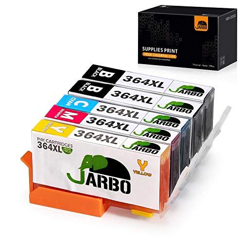 JARBO Ersetzt für HP 364XL 364 Druckerpatronen (2Schwarz, Blau, Rot, Gelb) für HP Photosmart 6520 5510 7510 7520 5524 6510 5515 5520 C5380 B110a HP OfficeJet 4620 4622 HP Deskjet 3070A 3520 3524 3522