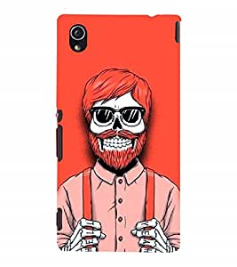 Nextgen Designer Mobile Skin for Sony Xperia M4 Aqua :: Sony Xperia M4 Aqua Dual (Skull Skeleton Danger Colourful Bright)