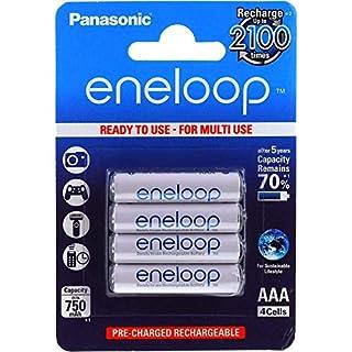 Original Panasonic eneloop HR-4UTG 750mAh NiMH 4er Pack, NiMH, 4x 1,2V