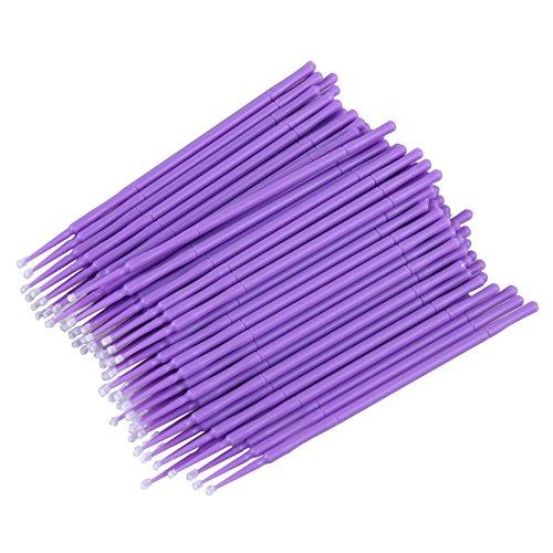 SODIAL(R) 100 x Coton-tige special de greffe de cils en couleur aleatoire