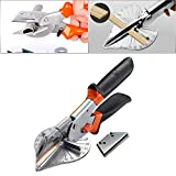 HOHXEN 45-135 Grad Mehrwinkel-Gehrungsschere, Handwerkzeuge, Weichholz, orange/schwarz, verstellbarer Winkelschneider mit 1-10 Klingen, schwarz