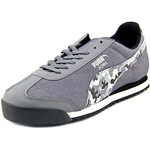 Puma Roma Denim Camo Jr. Jugend Textile Turnschuhe Steel Gray-Black-White
