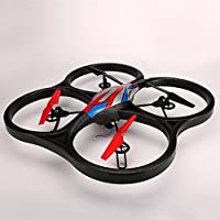 OOFAY Drone with Camera V666 FPV Real-Time Transmission Aerial Quadcopter Large Remote Control Aircraft UAV Model