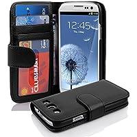 Cadorabo. Premium–Book Style Funda Estilo Cartera para Samsung Galaxy S3y S3Neo (GT-I9300/GT-I9301) óxido de en Negro
