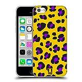 Head Case Designs Leopard Gelb Verrückte Drucke Soft Gel Hülle für Apple iPhone 5c