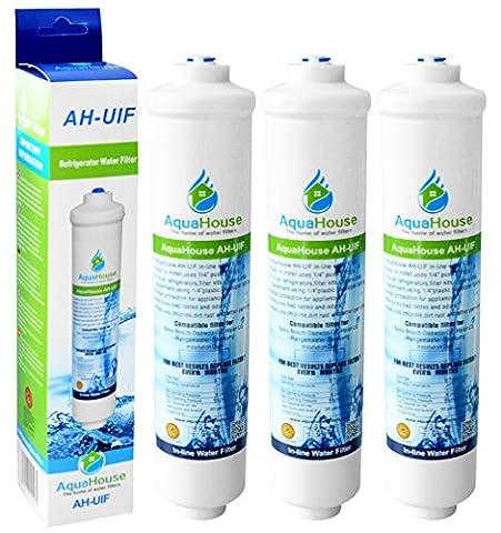 3x AquaHouse UIFS Filtre d'eau compatible pour réfrigérateur Samsung DA29-10105J