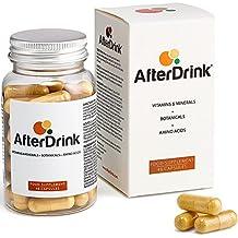 AfterDrink: Cápsulas naturales remedio rápido para efectos del alcohol, suplemento con vitaminas & minerales