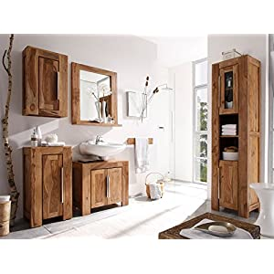 Badmöbel Holz Massiv | Deine-Wohnideen.de | {Badezimmermöbel holzoptik 92}