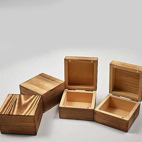 Woody Tee-box (hzzymj-magnet Schnalle Kiefer Woody Tee Box quadratisch Flip Holz Uhrenschatulle Retro Geschenk-Box Trompete)
