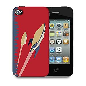 Snoogg future jets 2510 Designer Protective Back Case Cover For Apple Iphone 4