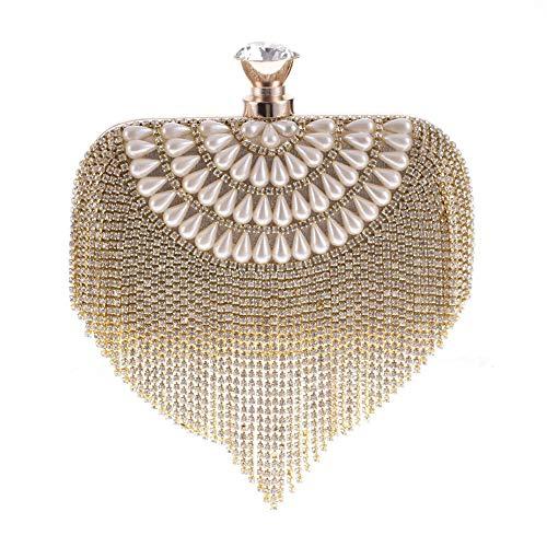 LLUFFY-Clutchmonederos Ola de agua con paquete de tecnología de diamante para el bolso de la mujer...