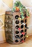 DanDiBo Weinregal Weinfass 1486 Beistelltisch Schrank Fass aus Holz 72cm Weinbar Bar