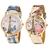 Krupa Enterprise Stylish Paris Designer Analogue Watches For Womens in Combo.