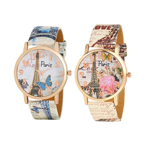 Women's & Girl's Watch (Multi Colored Strap) (Pack of 2)