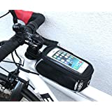 NEW Universal waterproof bike mobile phone frame bag. Ride Pro carbon style smart phone mount.