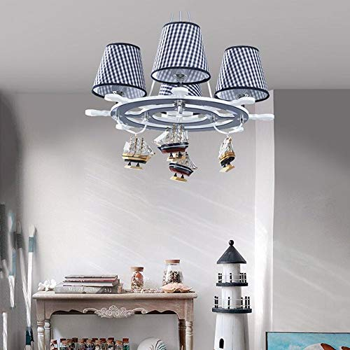 Ceiling Lights & Fans Sporting European Pastoral Blue Dolphin Chandelier Boys Bedroom Childrens Room Light Cartoon Creative Led Fish Chandelier Pendant Lights