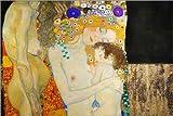 Posterlounge Leinwandbild 150 x 100 cm: Die DREI Lebensalter der Frau (Detail) von Gustav Klimt - fertiges Wandbild, Bild auf Keilrahmen, Fertigbild auf echter Leinwand, Leinwanddruck