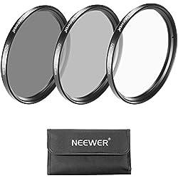 Neewer Lentille de 77mm Kit de Filtre: Filtre UV + Filtre CPL + Filtre ND4 + Filtre Pouch pour Canon EOS EF 24–105mm f/4 l IS USM Objectif à Zoom, Nikon 28–300mm f/3.5–5.6 G ED VR II AF-S