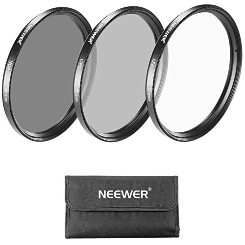 Neewer 77MM Objektiv Filter -Set: UV-Filter + CPL Filter + ND4 Filter + Filterbeutel für Canon EOS EF 24-105mm f / 4 L IS USM Zoom-Objektiv, Nikon 28-300mm f / 3.5-5.6G ED VR II AF -S Zoom-Objektiv