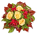 Blumenstrauß Blumenversand'Cappuccino' +Gratis Grußkarte+Wunschtermin+Frischhaltemittel+Geschenkverpackung