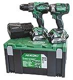 Hikoki KC18DPLWC Kit Dv18Dbsl + Wr18Dbdl2 + 2 Batterie 18 V 5 Ah