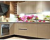 Küchenrückwand Folie selbstklebend SAKURA 180 x 60 cm | Klebefolie - Dekofolie - Spritzchutz für Küche | PREMIUM QUALITÄT