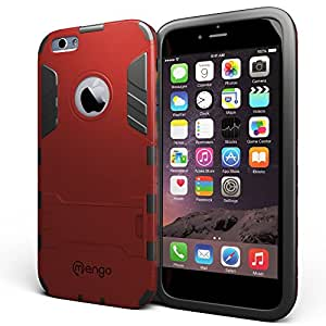 iPhone 6S Plus / 6 Plus Case, Mengo Bionic [Ultra Slim] Shockproof iPhone 6S Plus / 6 Plus Case with Built-in Kickstand and Matte Screen Protector (Ruby)
