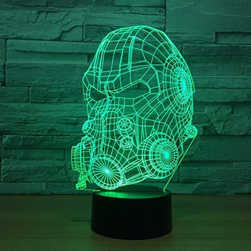 Maske Led Lampe 7 Farben Ändernden Usb Touch Sensor Schreibtisch Tischlampe Atmosphäre Geschenk ()