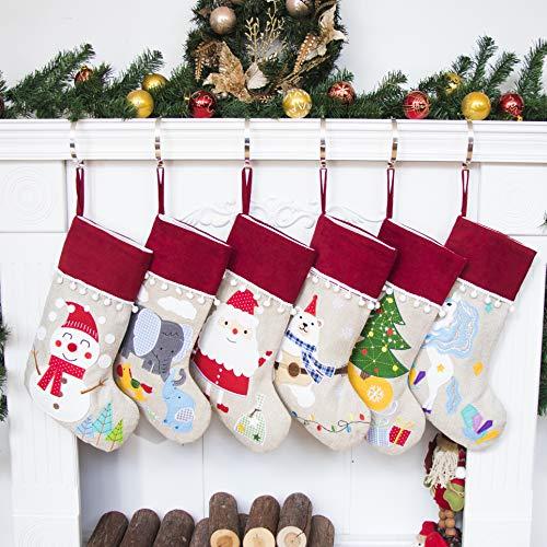 Beyond Your Thoughts Nikolausstrumpf Weihnachtsstrumpf Deko Kamin Christmas Stocking Nikolausstiefel zum befüllen und aufhängen groß Ideale Weihnachtsdekoration-Elefant
